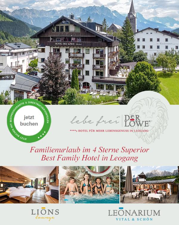 Family Hotel Der Löwe - Aktivurlaub mit den Kindern in Leogang