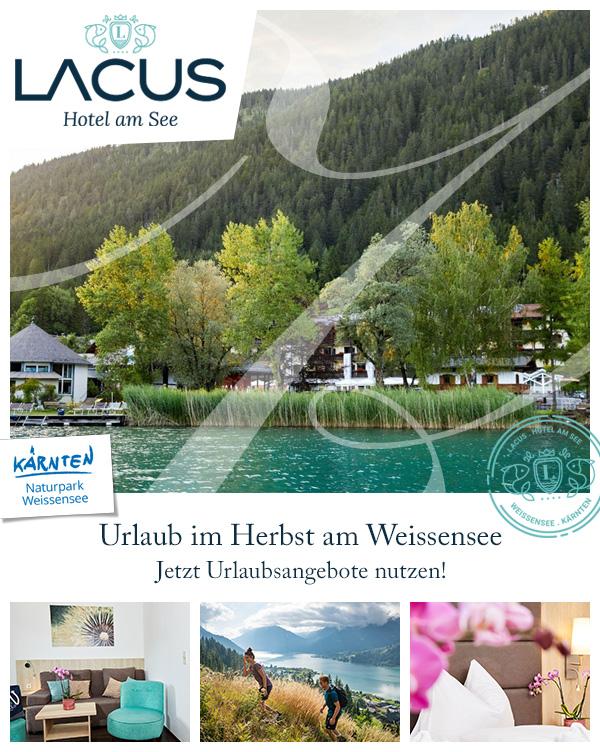 LACUS - Hotel am See   Familienhotel Herbsturlaub Weissensee Kärnten